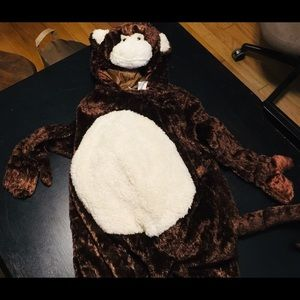 NWOT Monkey Costume 3T-4T Brown & Beige Faux Fur